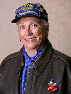 "082013 - PALM BEACH - Florence Rubin Elion Mascott, cq, (AKA Flip) photographed at her condo in Palm Beach Florida. During WWII ""Flip"" became a ""WASP"", Women Airforce Service Pilot, a paramilitary aviation organization. Photo by Tim Stepien"