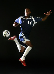 022807 - STUDIO -American Heritage soccer player Hasani Sinclair. He is our small schools Player of the Year. staff photo by tim stepien