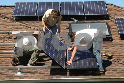 Solar panel installation on single family residential home in Washington State.