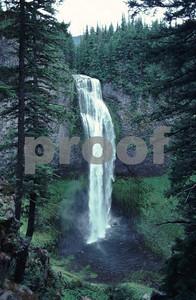 Salt Creek Falls along Highway #58 in Oregon, the summer view.
