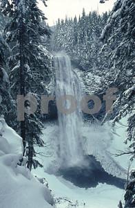Salt Creek Falls along Highway #58 in Oregon, the winter view.
