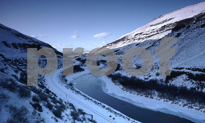 The Yakima River canyon in the winter.