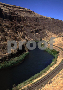 The Yakima River canyon in the summer.