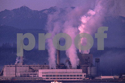 Emissions from pulp mill.