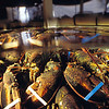 Maine lobsters, Homarus americanus, are kept in a holding tank prior to distribution to vendors, Hawaii ( Central Pacific Ocean )