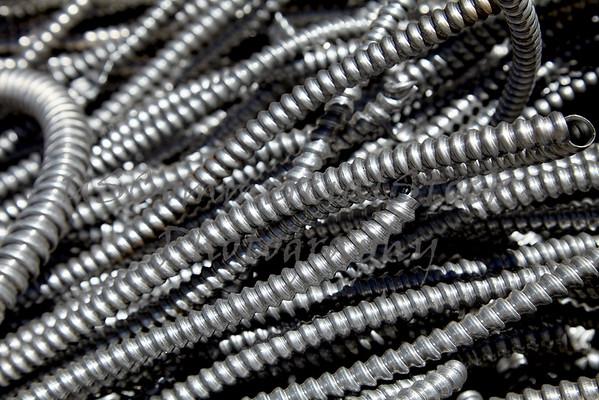 Scrap metal electrical flex conduit for recycling