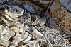 Aluminum steel scrap metal trash for recycling
