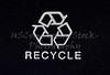 Close up of Recycle Symbol