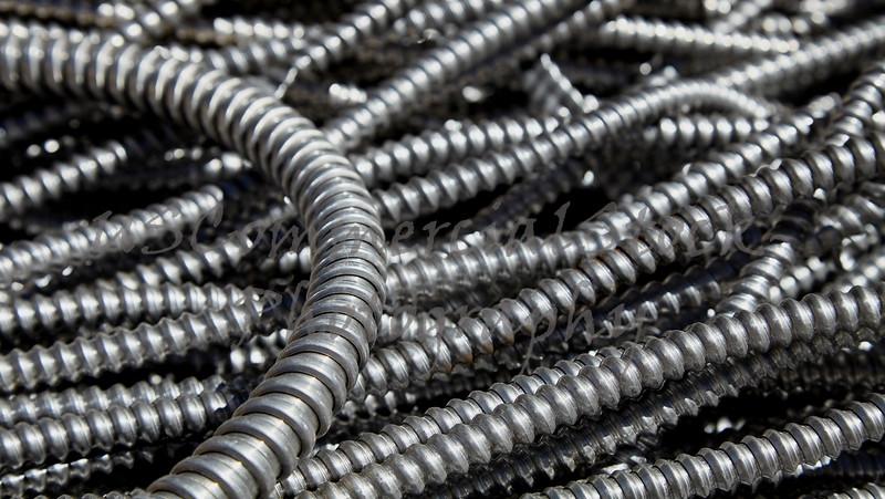Scrap metal electrical conduit for recycling