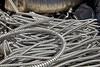Aluminum scrap metal duct conduit waste recycling