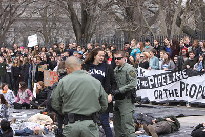 Almost half of the estimated 1000 students that attended march/protest were arrested at the White House.