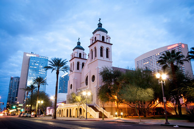 Downtown Phoenix at Sunrise