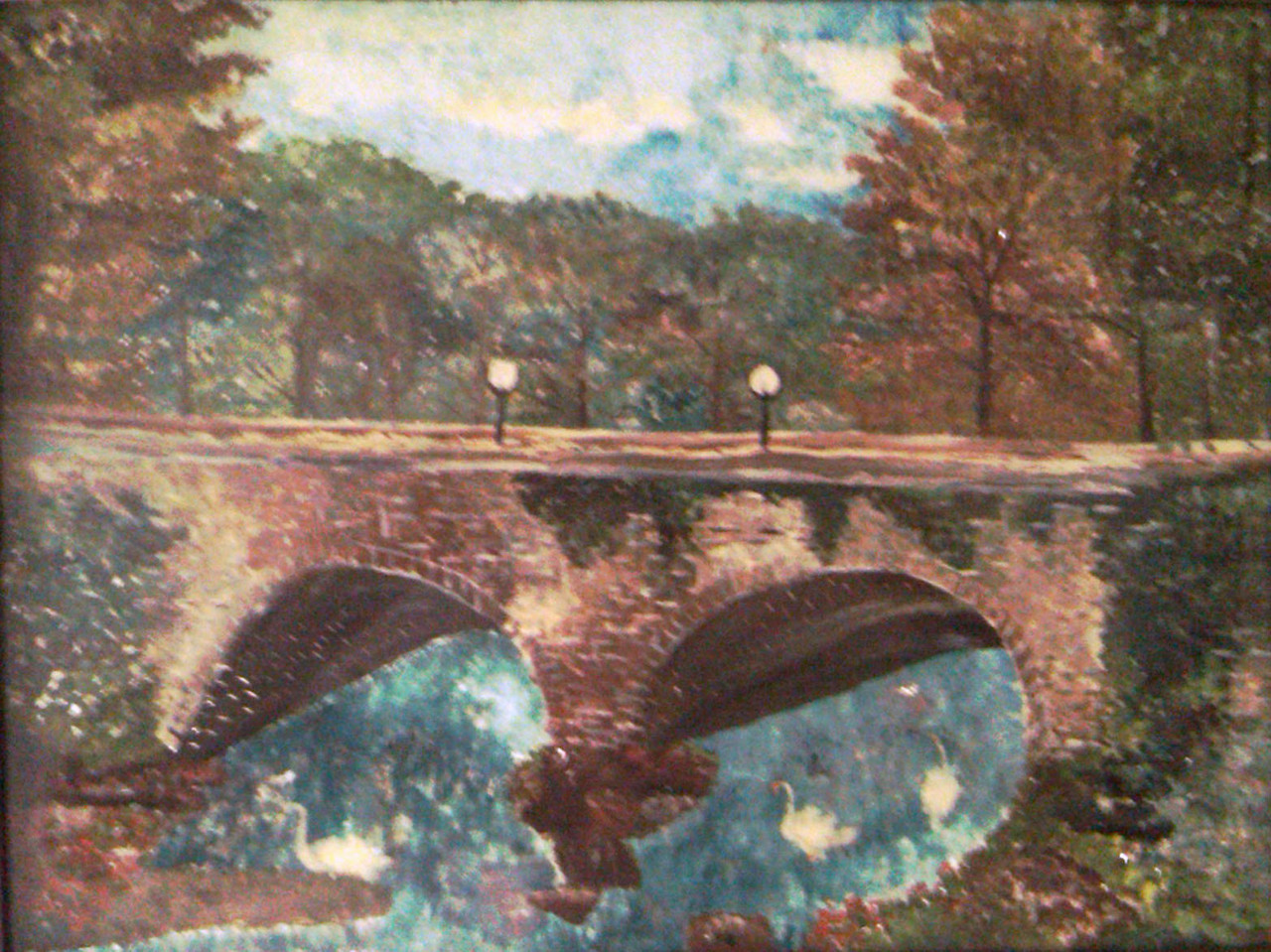 Bridge with Swans