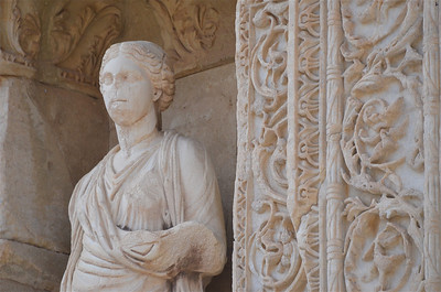 Statue at Celsus Library, Ephesus.