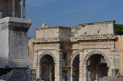 Gate of Augustus at the ruins of Ephesus.