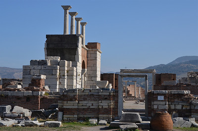 Ruins of the Basilica of St John, Ephesus.