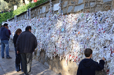 Wall of Prayers at the House of the Virgin Mary, Ephesus.