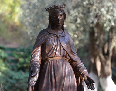 Statue of the Virgin Mary at property of the House of the Virgin Mary, Ephesus.