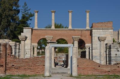 Ruins of the Basilica of St John, Ephesus.