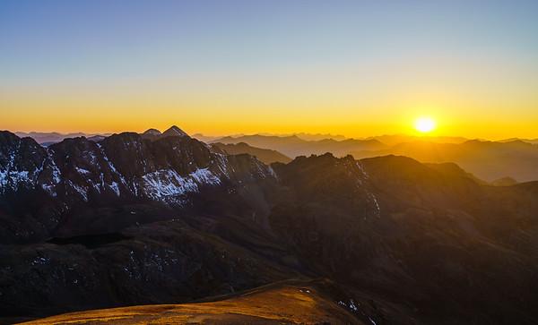 Sunset at Handies Peak