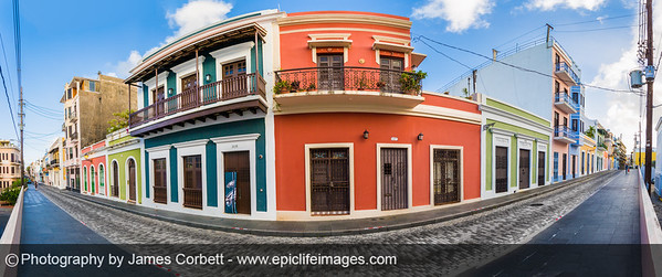 How about a panoramic morning? Lovely day for a walk in Old San Juan PR.