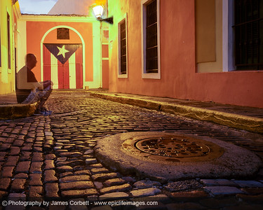 Having some fun in Old San Juan. Long exposure with the photographer making an appearance.