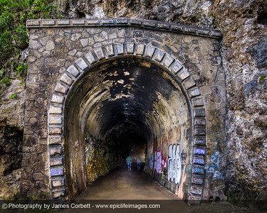 Fun figuring out how to light this entrance to Guajataca Tunnel to get detail in the walls and the people walking. What do you think?