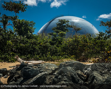 """Back to work for me... The Boiling Nuclear Superheater (BONUS) Reactor Facility, also known as """"Domes,"""" is a decommissioned nuclear plant in Rincón, Puerto Rico."""
