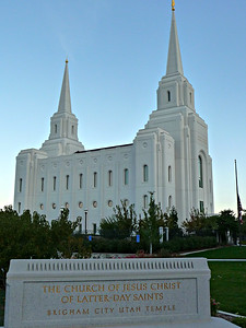 LDS Temple in Brigham City UT.