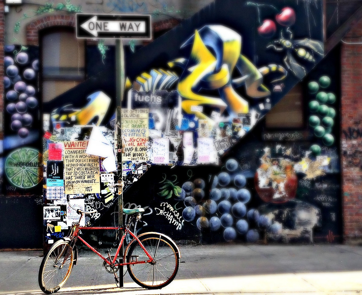 Bikes And Graffiti In Bushwick, Brooklyn, NYC