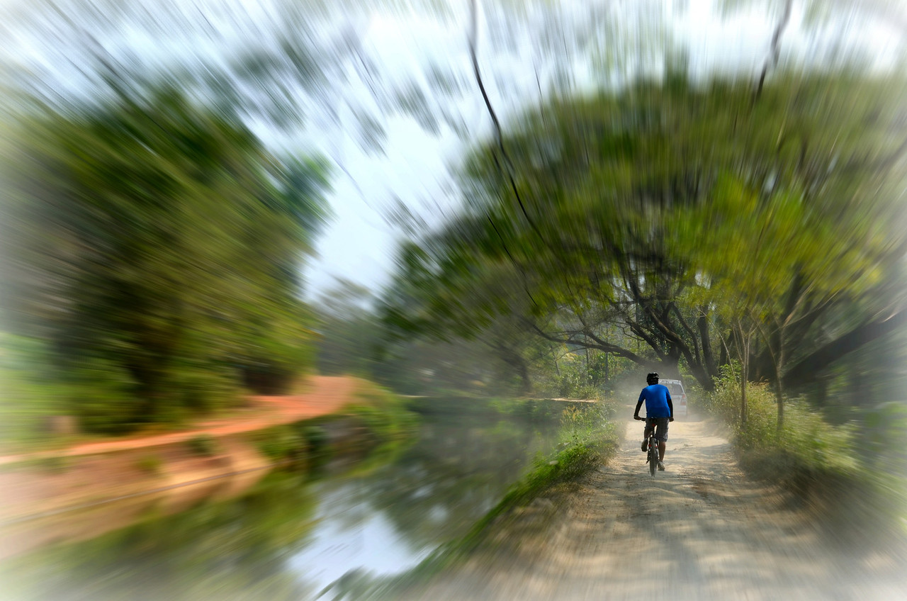 Cycling along Kerala, India's Canal Route