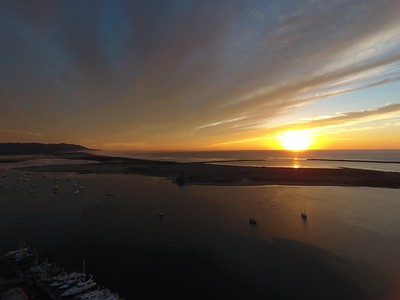 Epic sunset drone Winter Solstice