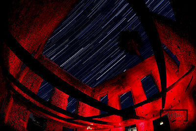 Star Trails at the Tabby Ruins on Spring Island, South Carolina  © Copyright m2 Photography - Michael J. Mikkelson 2009. All Rights Reserved. Images can not be used without permission.
