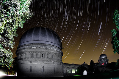 Star Trails at the Yerkes Observatory 10.10.10  © Copyright m2 Photography - Michael J. Mikkelson 2009. All Rights Reserved. Images can not be used without permission.
