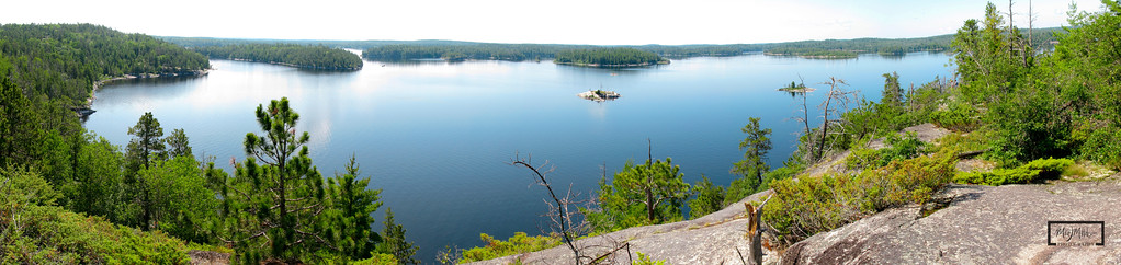 Taken from the top of Warrior Hill on the Canadian side during a trip to the Boundary Waters looking down over Lac La Croix.  © Copyright m2 Photography - Michael J. Mikkelson 2009. All Rights Reserved. Images can not be used without permission.