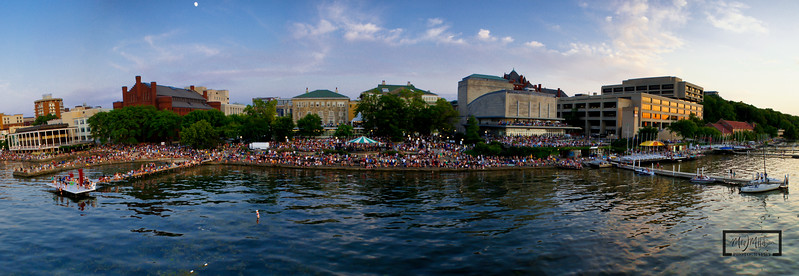 Memorial Union Terrace at Sunset Just before Rhythm & Booms 2012  © Copyright m2 Photography - Michael J. Mikkelson 2012. All Rights Reserved. Images can not be used without permission.