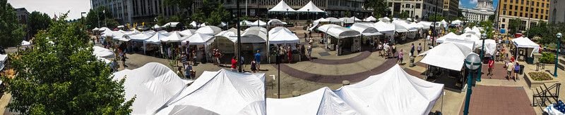 Art Fair OFF the Square 2012:  Pole Aerial Photography Panoramic  © Copyright m2 Photography - Michael J. Mikkelson 2012. All Rights Reserved. Images can not be used without permission.