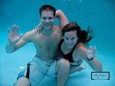 Jason and Emily Under Water  © Copyright m2 Photography - Michael J. Mikkelson 2009. All Rights Reserved. Images can not be used without permission.