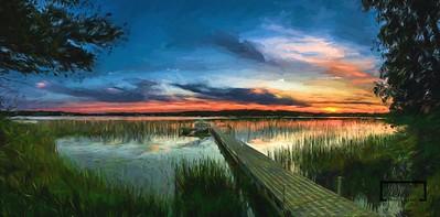 Birch Lake Sunset