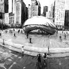 Black White Cloud Gate