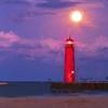 Kenosha Lighthouse Moonrise