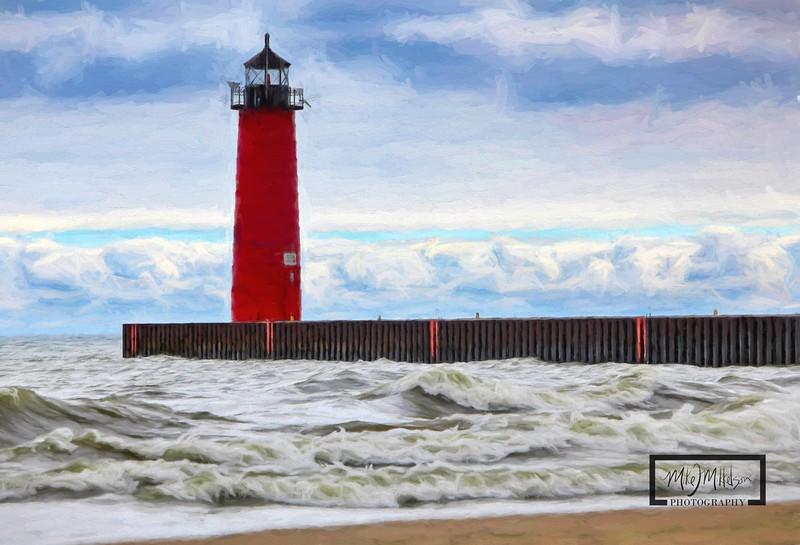 Kenosha Lighthouse Waves