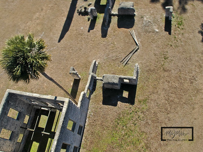 Pole Aerial Photography of the Tabby Ruins on Spring Island, SC   © Copyright m2 Photography - Michael J. Mikkelson 2009. All Rights Reserved. Images can not be used without permission.