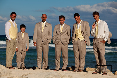 Groomsmen on the Beach  © Copyright m2 Photography - Michael J. Mikkelson 2009. All Rights Reserved. Images can not be used without permission.