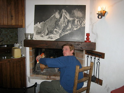 Day 5 - Photo 1 (pace starts fire in chalet).JPG