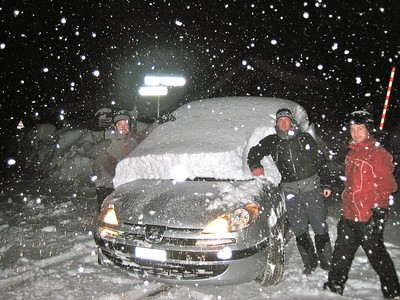 Day 6 - Photo 2 (digging car out more).JPG
