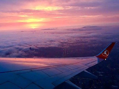 But after 12-hours, it was time to fly across the Black Sea and into Batumi