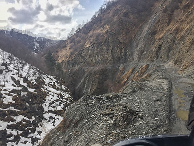 But our goal was to get to Ushguli....on this road