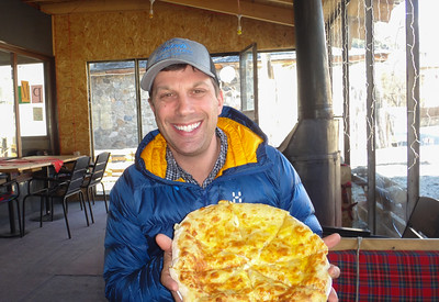 The Georgians love eating these cheese pies...for every meal