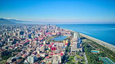 Beautiful views of the Black Sea from the drone